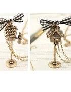 Naszyjnik budka dla ptaków z ptaszkiem