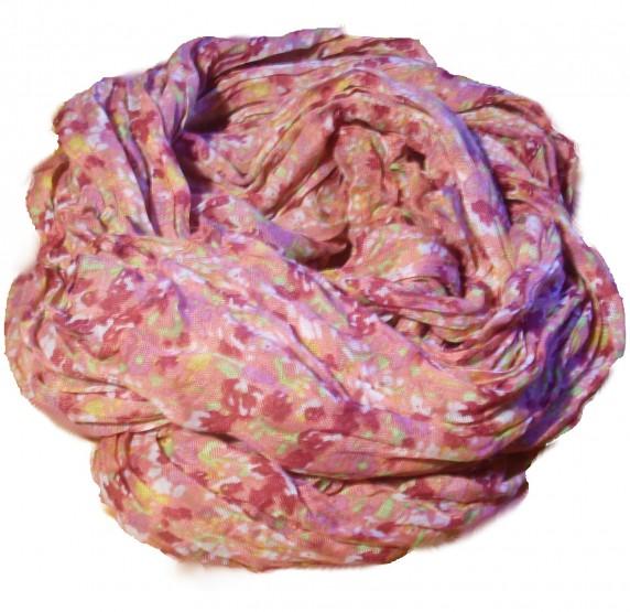 Chusty i apaszki różowa chustka floral kwiaty