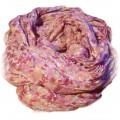 różowa chustka floral kwiaty