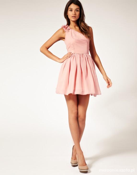 e1eb6b7061 na jedno ramię asos paprika wesele pudrowy róż w Suknie i sukienki ...