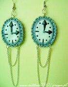 Kolczyki zegarki retro