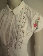 sukienka vintage retro hafty