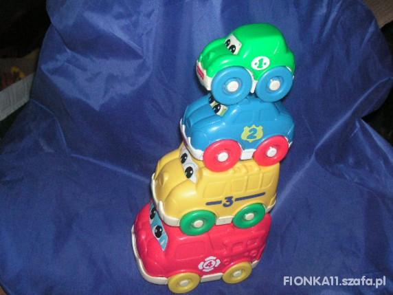 Zabawki CZTERY AUTA FISHER PRICE