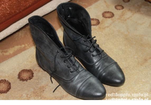 Botki czarne ciemno szare worker boots 39 NY