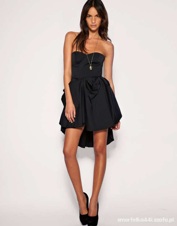 401fbd3998 ASOS czarna sukienka z trenem piękna 40 L LONDON w Suknie i sukienki ...