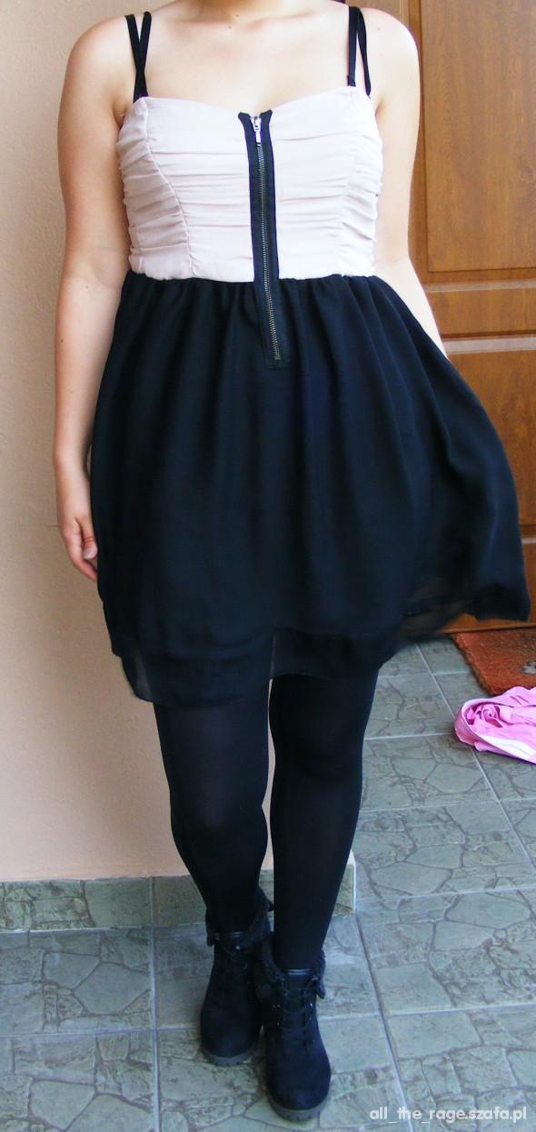 sukienka zara zip