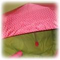 NOWA różowa parasolka w białe kropki FF