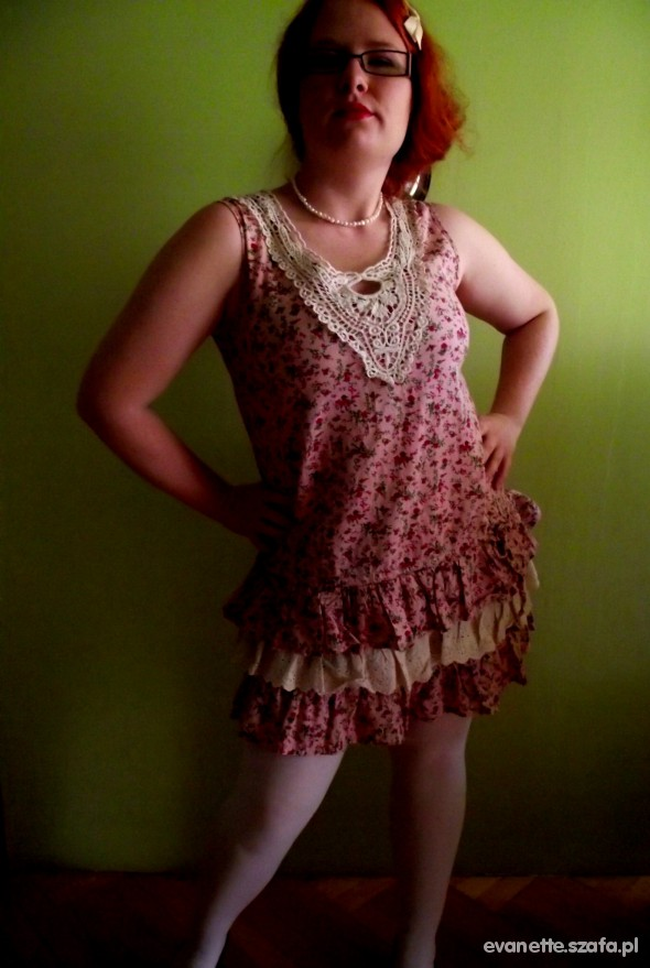 Mój styl Dziewczęca sukienka