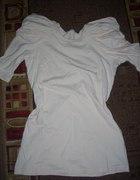 kremowa bluzeczka z modnymi bufkami