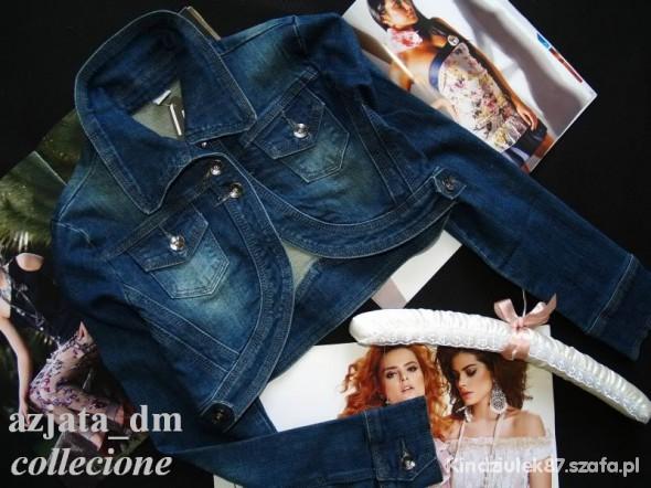 Bolerka krótka kurteczka jeans bolerko