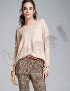 h&m zara sweter azurowy jumper oversize ecru luzny...
