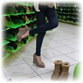 buty koturny czółenka sandałki platformy zamsz