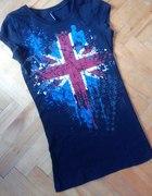 Koszulka FISHBONE Tunika FLAGA XS 34 Czarna