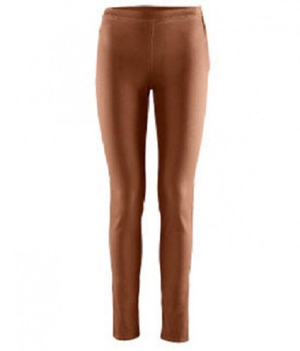 Spodnie Brązowe tregginsy rurki slim leg H&M ANJA RUBIK