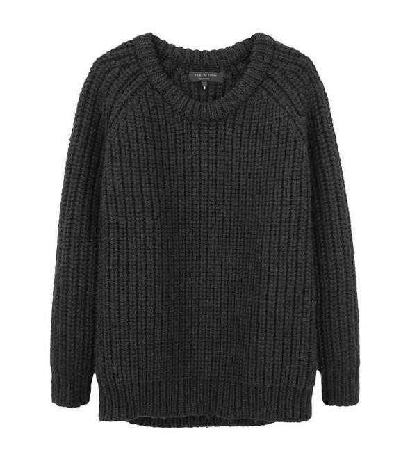 luźny ciepły nie gryzący sweter