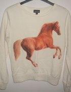 bluza topshop z rudym koniem huehuehue
