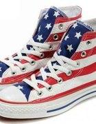 CONVERSE flaga USA gwiazdki paski