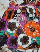 simple floral spódnica kwiaty kolorowa...