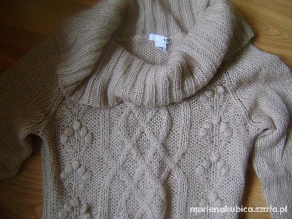 sweter long dlugi XS HM