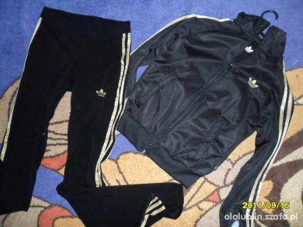 Adidas złote paski S