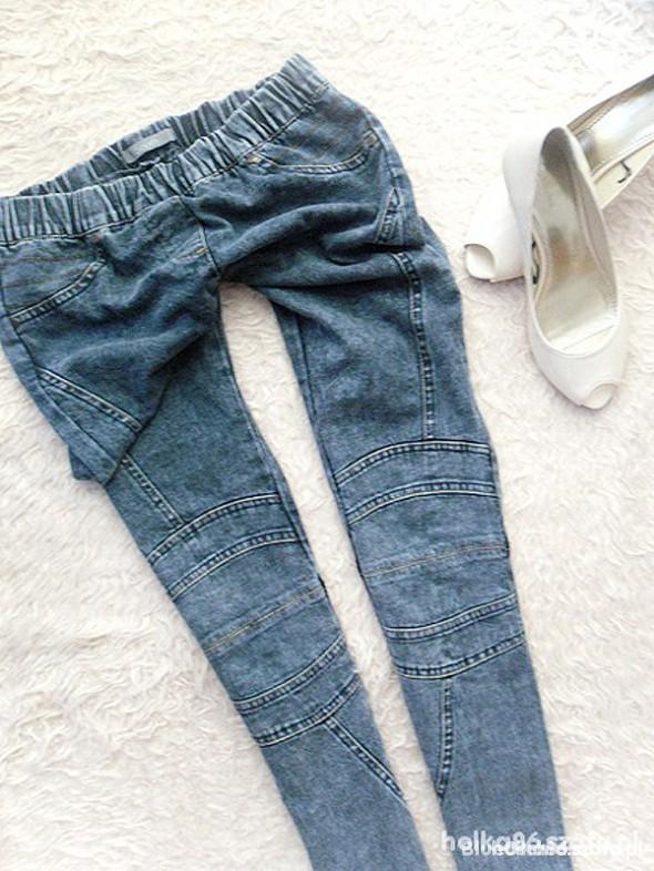 spodnie rurki tregginsy przeszycia