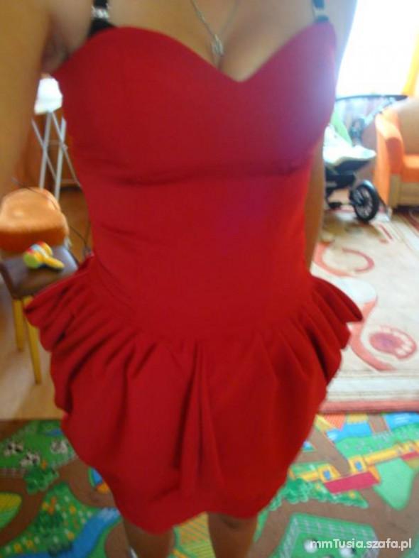 Suknie i sukienki czerwony tulipan sukienka