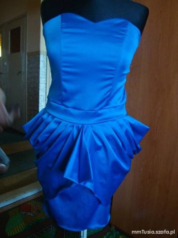 Suknie i sukienki niebieski tulipan