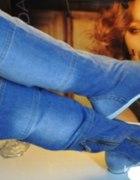 jeansowe kozaczki szuakm
