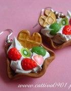Kolczyki desery z owocami