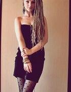 sukienka z zamkiem rajstopo pończochy w serca