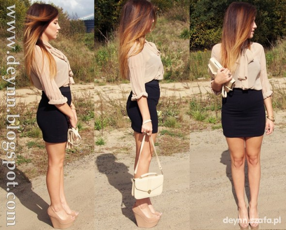 beautiful autumn beige and black