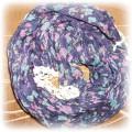 Fioletowa chustka floral
