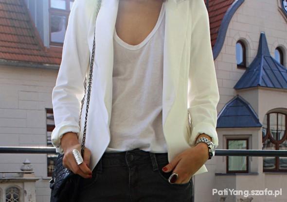 Mój styl white blazer