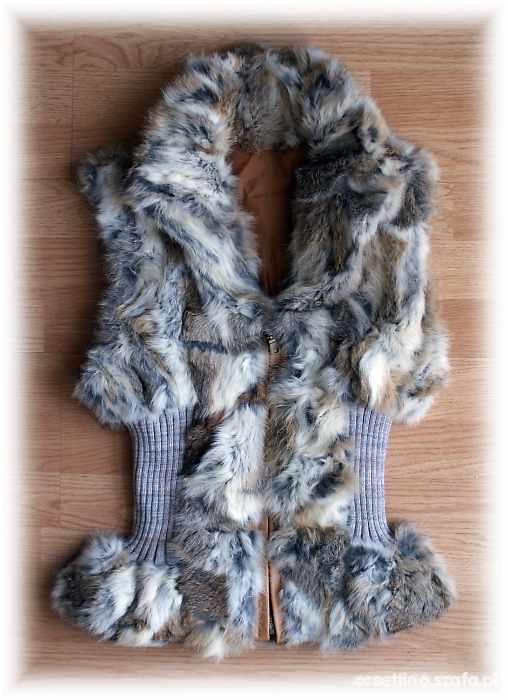 Ubrania Futrzana kamizelka