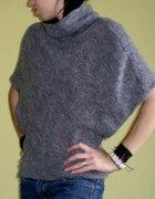 szary melanż nietoperek nietoperz motyl sweterek...