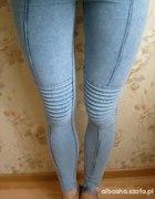 legginsy jeansowe