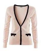 Sweterek H&M z kokardkami pudrowy...