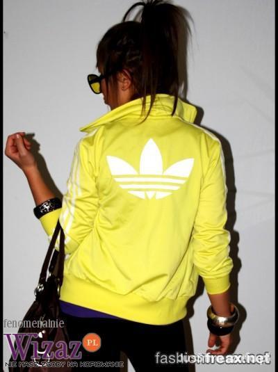 Ubrania Bluza Adidas firebird cytrynowa