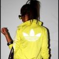 Bluza Adidas firebird cytrynowa