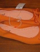 pomarańczowe balerinki...