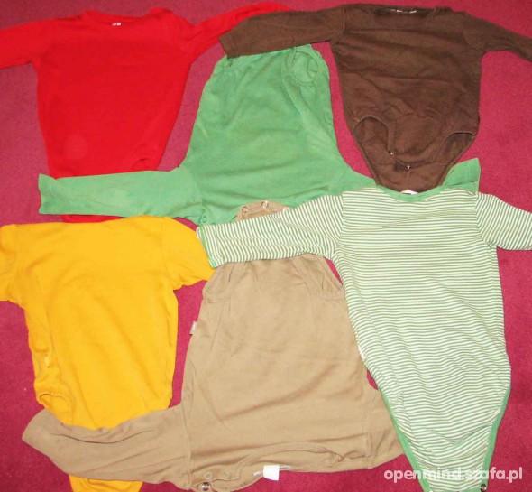Koszulki, podkoszulki Komplet body z długim rękawem 80 cm