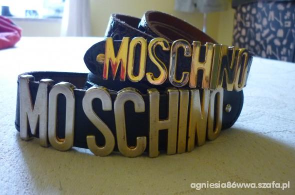 Moschino moje kochane paseczki brąz i czarny