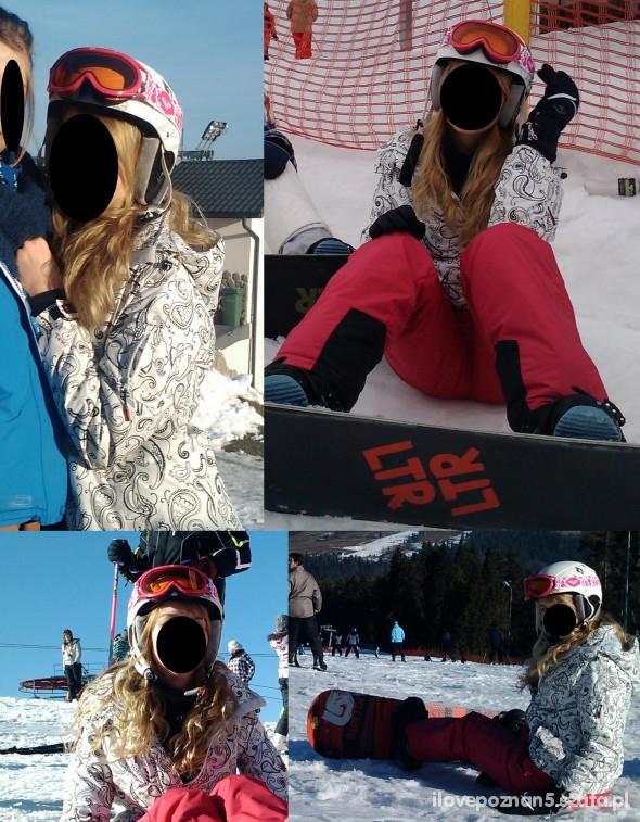 Sportowe Mój snowboardowy strój