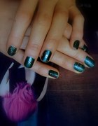 Simple Galaxy Nails