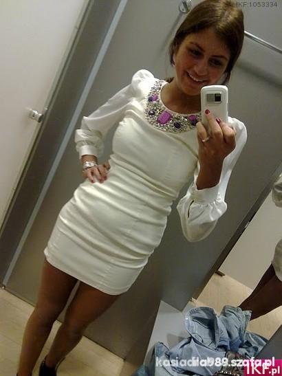 Sukienka bufki piekna