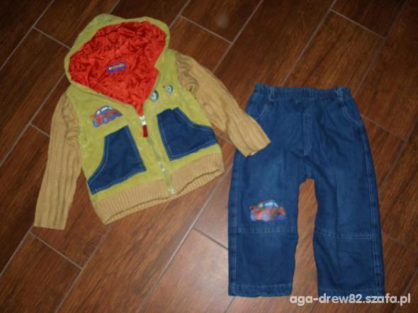 Komplety Ocieplane spodnie i bluza kurtka NOWE 86roz