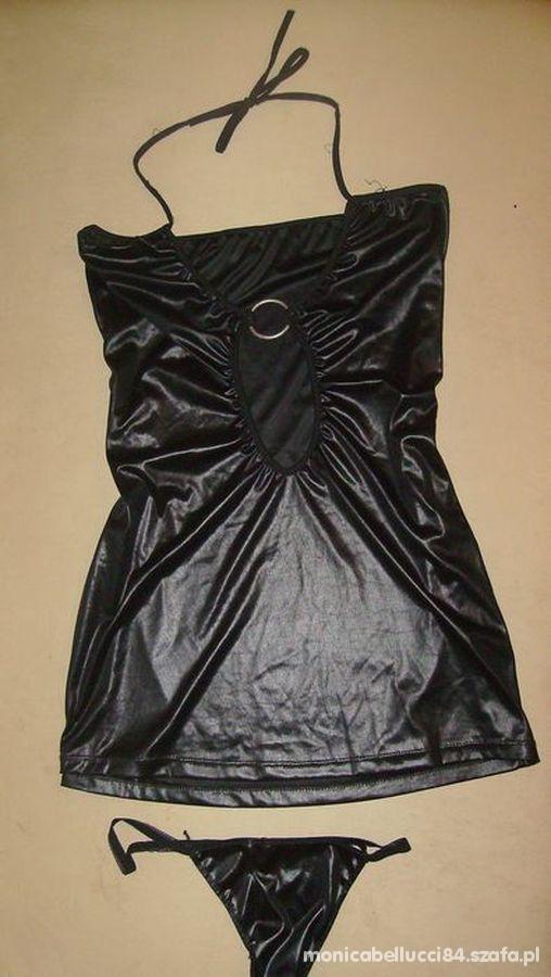 koszulka halka czarna z lateksu seksi