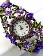 Oryginalny zegarek z kryształkami ala Swarovski