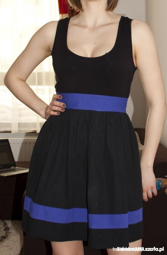 Czarno fioletowa sukienka