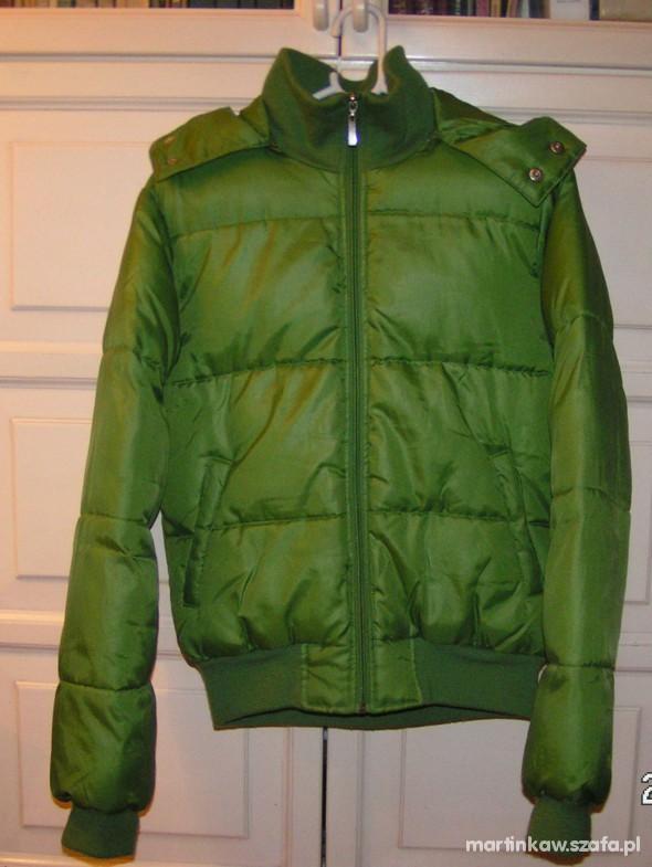 Zielona zimowa kurtka Terranova
